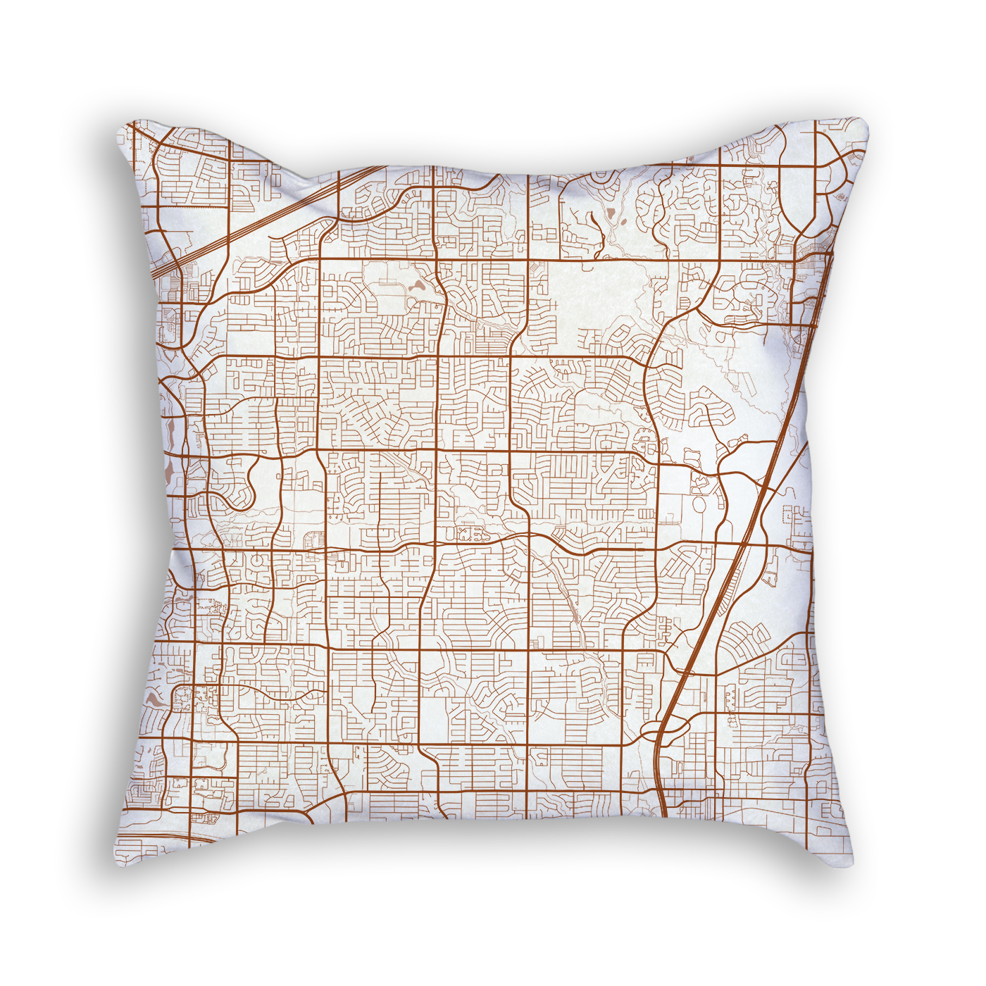 Plano Texas Throw Pillow