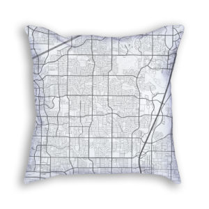 Plano Texas City Map Art Decorative Throw Pillow