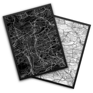 Prague Czech Republic City Map Decor