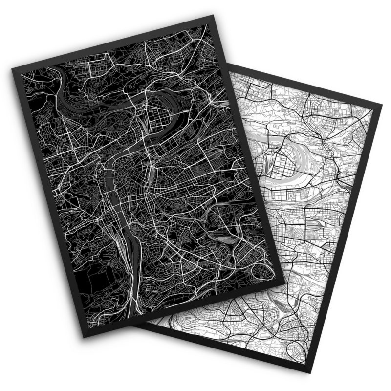 Prague Czech Republic City Map Decor