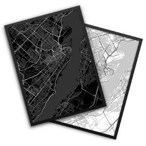 Quebec City Canada City Map Decor