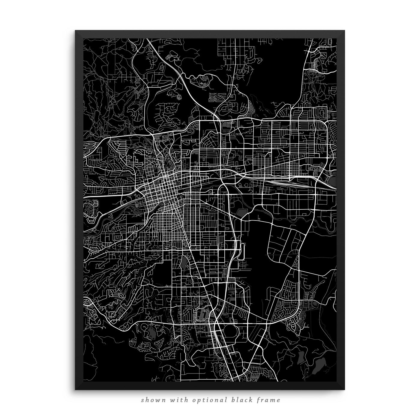 Reno Nevada Poster City Map Decor - Street map of reno nv