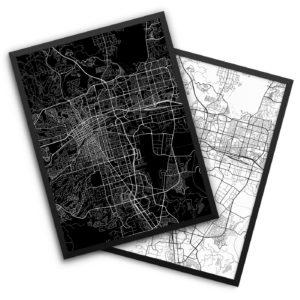 Reno NV City Map Decor
