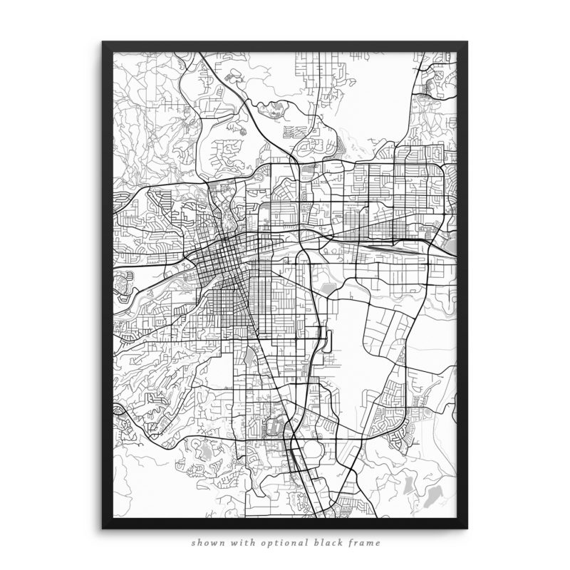 Reno NV City Street Map White Poster
