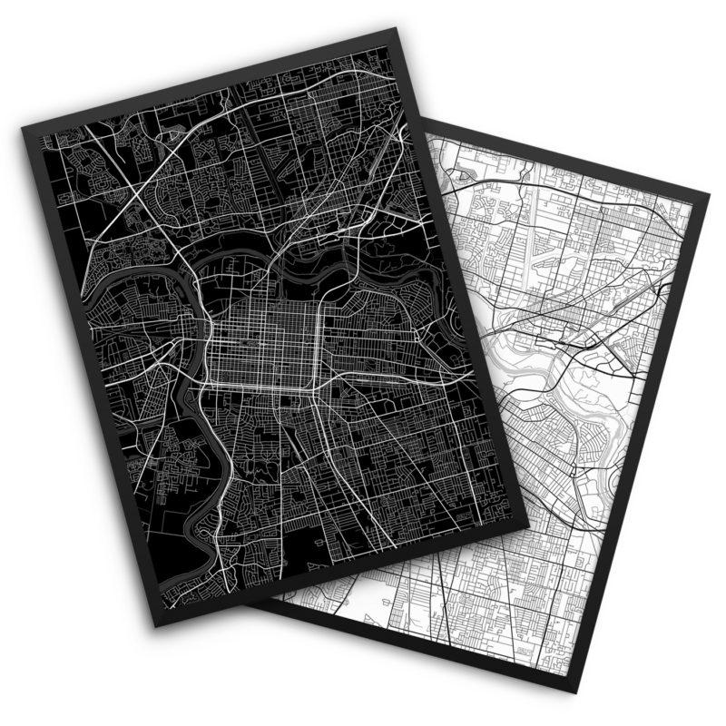 Sacramento CA City Map Decor