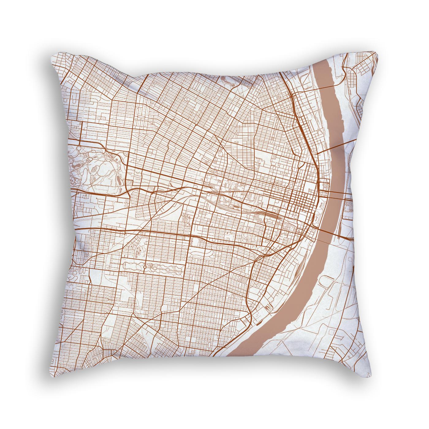 Saint Louis Missouri Throw Pillow