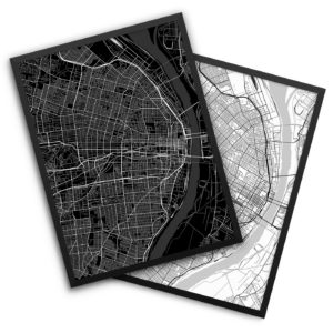 Saint Louis MO City Map Decor