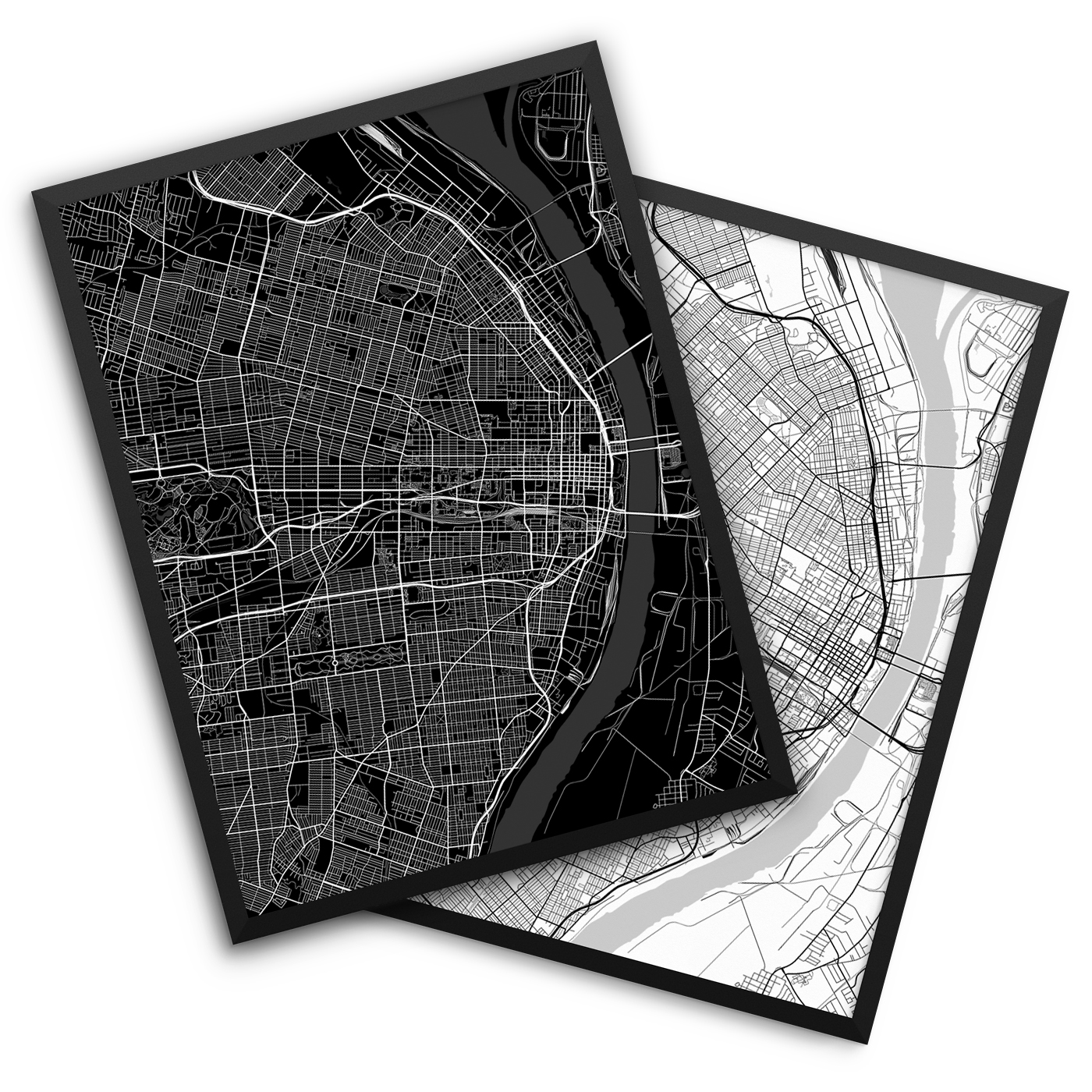 Saint Louis MO City Map Decor