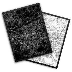 San Jose Costa Rica City Map Decor