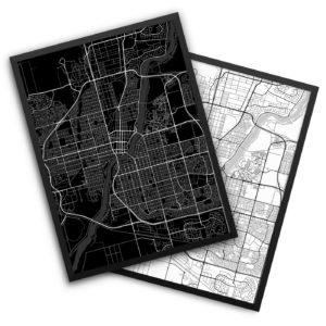 Saskatoon Canada City Map Decor