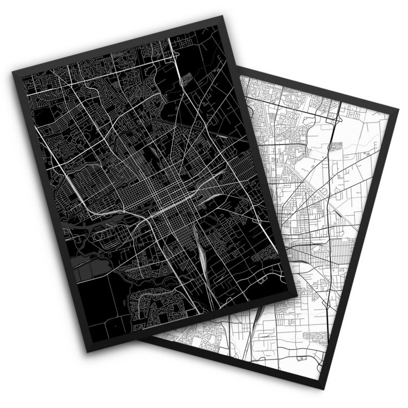 Stockton CA City Map Decor