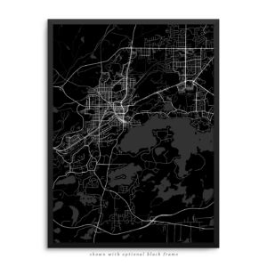 Sudbury Canada City Street Map Black Poster