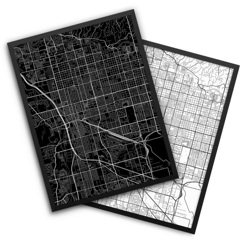 Tucson AZ City Map Decor