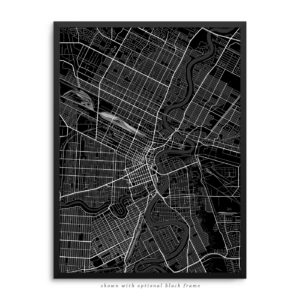 Winnipeg Canada City Street Map Black Poster