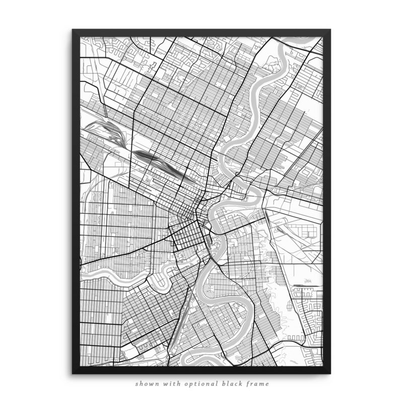 Winnipeg Canada City Street Map White Poster