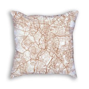 Kuala Lumpur Malaysia City Map Art Decorative Throw Pillow