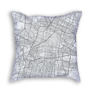 Mexico City Mexico City Map Art Decorative Throw Pillow City Map Art Decorative Throw Pillow