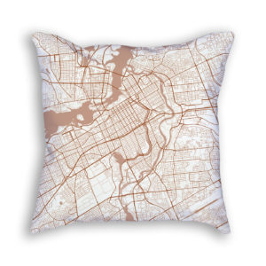 Ottawa Canada City Map Art Decorative Throw Pillow