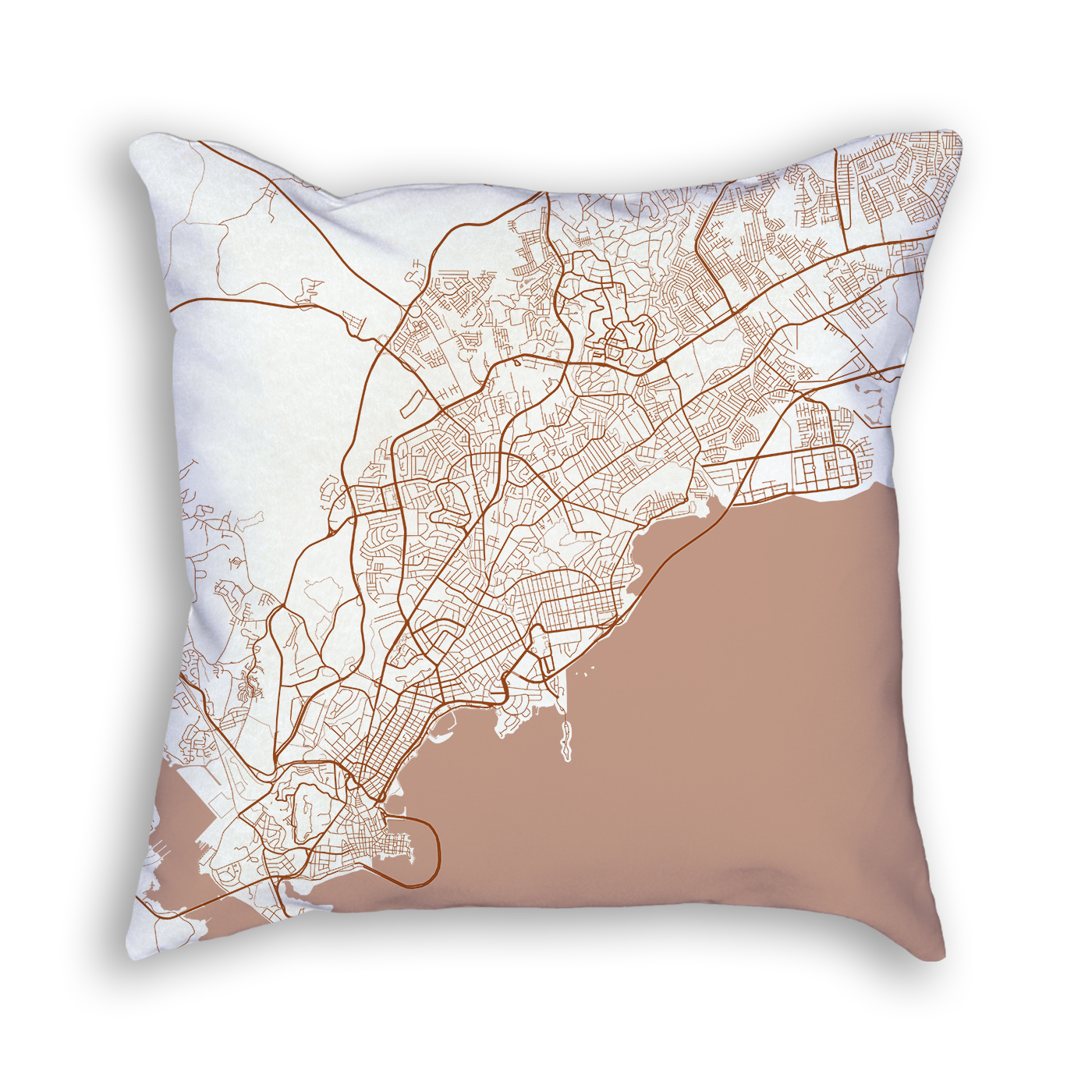 Panama City Panama City Map Art Decorative Throw Pillow