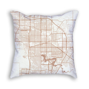 Regina Canada City Map Art Decorative Throw Pillow