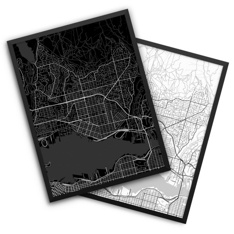 North Vancouver Canada City Map Decor