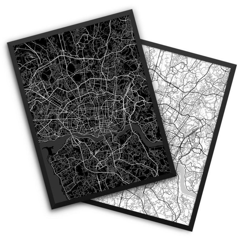 Porto Portugal City Map Decor
