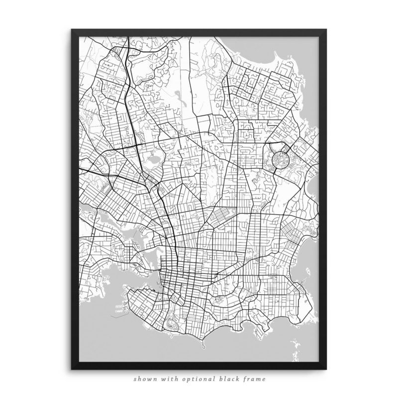 Victoria Canada City Street Map White Poster