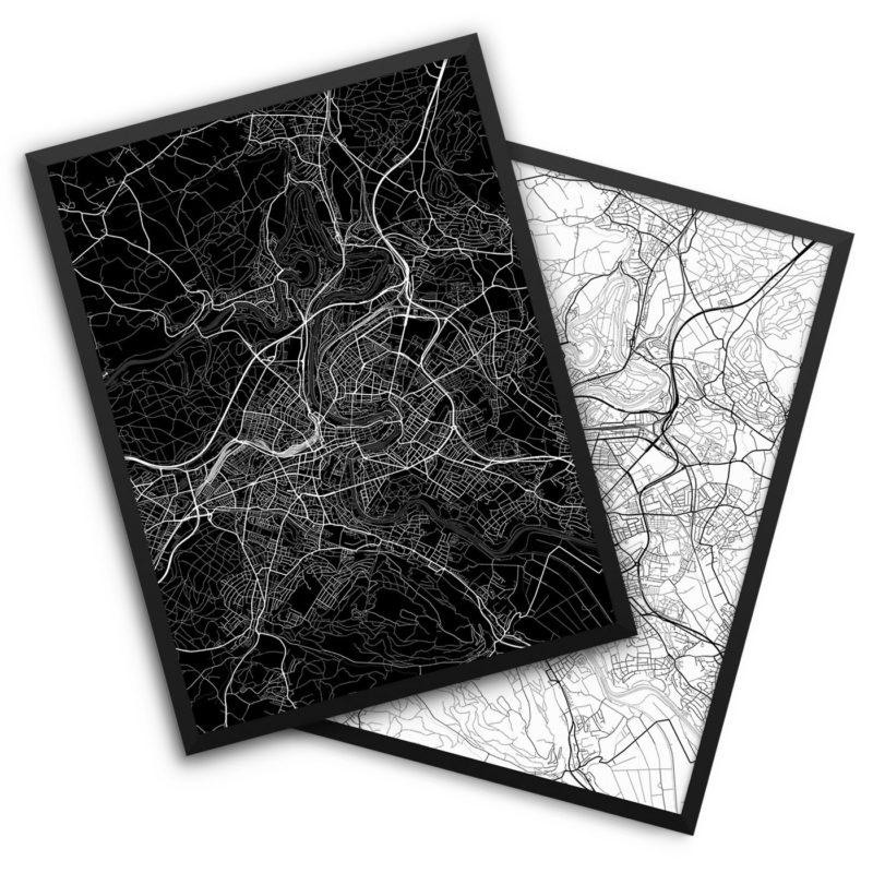 Bern Switzerland City Map Decor