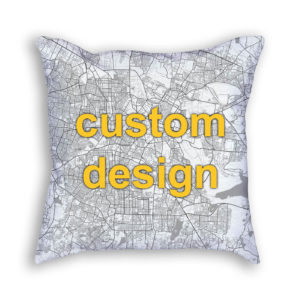 Bangalore India Custom Throw Pillow