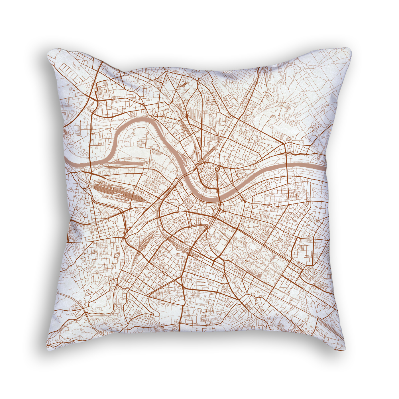 Dresden Germany City Map Art Decorative Throw Pillow