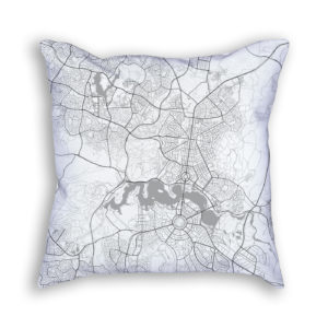 Canberra Australia City Map Art Decorative Throw Pillow