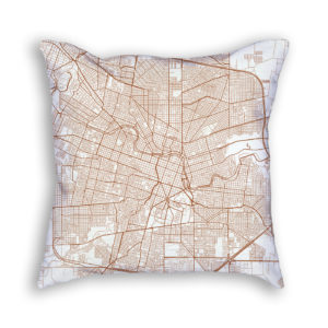 Cordoba Argentina City Map Art Decorative Throw Pillow
