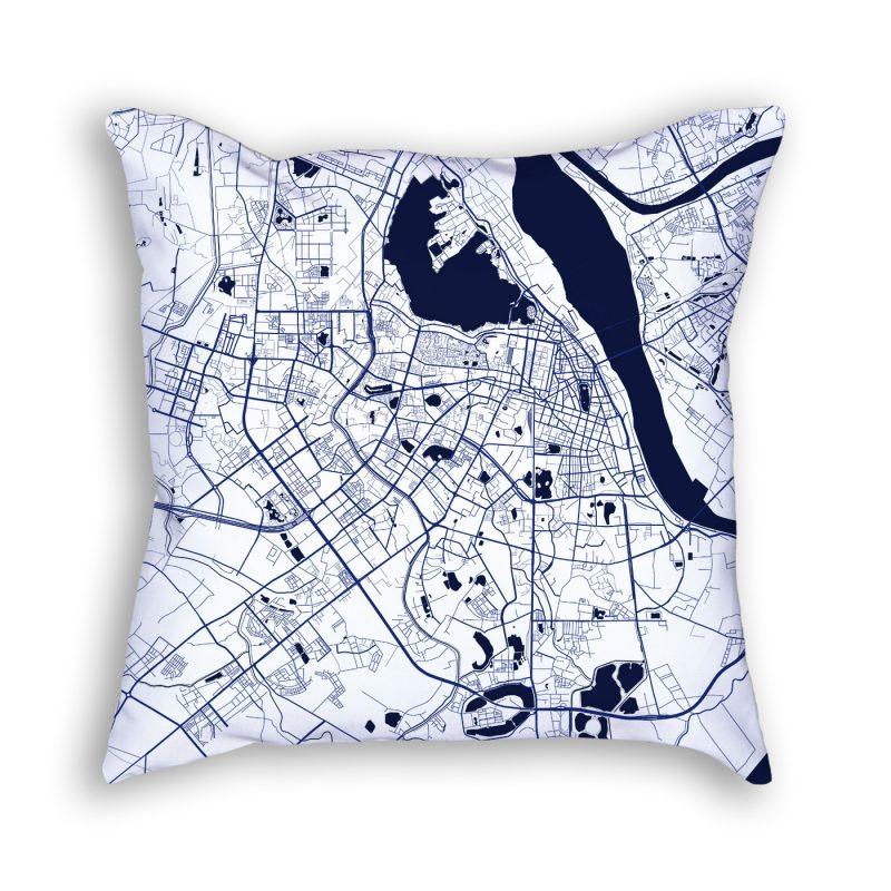 City Map Art Decorative Throw Pillow